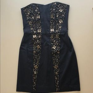 French Connection Jeweled Mini Dress